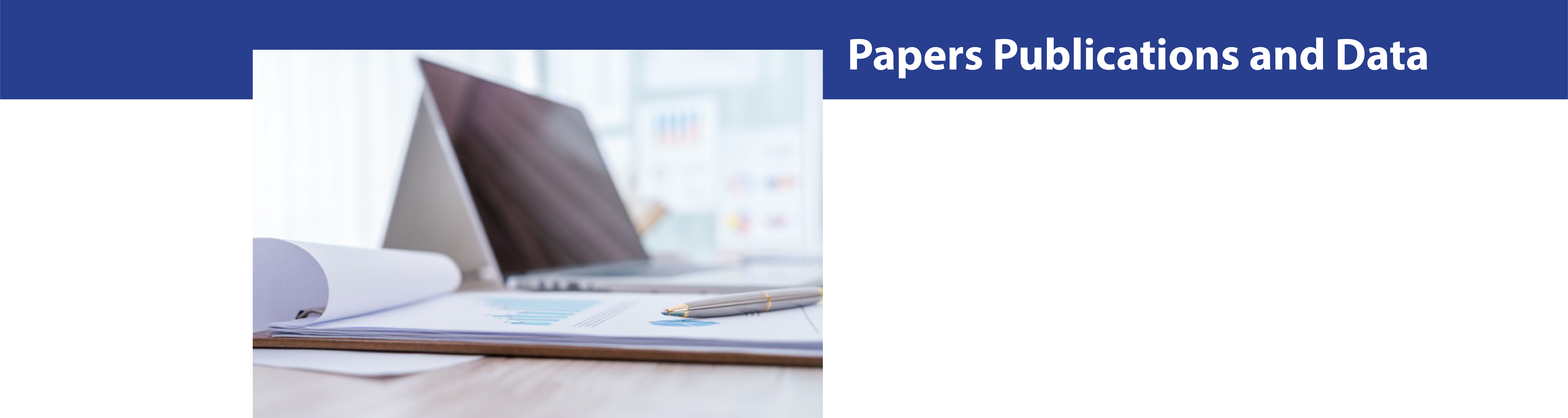 Papers, Publications, and Data Header